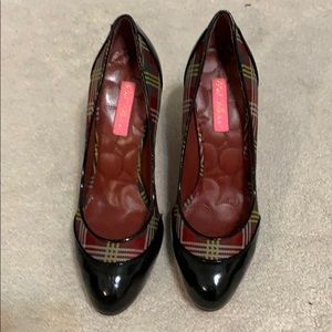 Betsey Johnson Patent Leather and Plaid Pumps